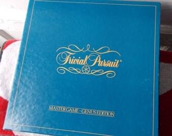 Vintage Trivial Pursuit Master Game Genus Edition 1981 Complete
