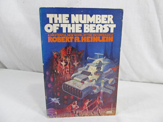 The Number Of The Beast, Robert A. Heinlein 1980 PB First Edition Fawcett Illustrated by Richard M. Powers book fantasy science fiction 1st