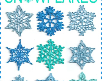 SNOWFLAKES Stars Crochet Pattern 1, PDF e-book, instant download, for christmas decoration