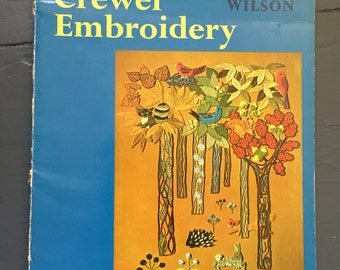 The Craft Of Crewel Embroidery 1970s Erica Wilson Book instructional Large Softcover