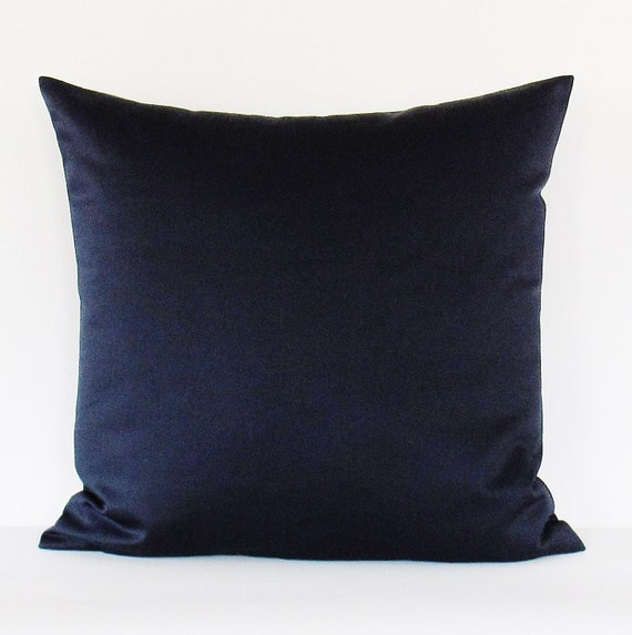Navy Pillow Cover Navy Blue Pillow Navy Decorative Throw