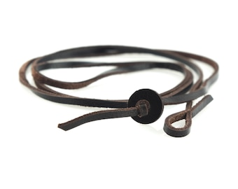 Chocolate Leather Necklace, Presh Necklace, Leather Necklace, Chocolate Necklace