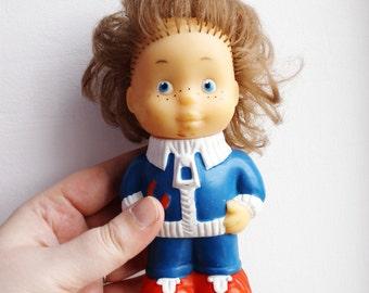 USSR vintage rubber toy - Mechanic  - USSR dolls - vintage dolls - 1980s