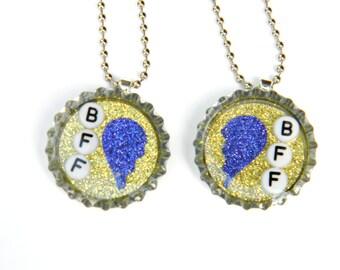 Best Friend Forever BFF - Bottle Cap Necklace