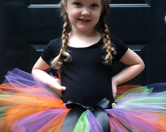 Baby Girl Witch Costume - Halloween Witch Tutu and Hat - Toddler Witch Costume