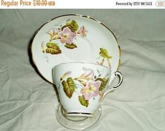 Grosvenor china tea cup and saucer- vintage teacup and saucer- Grosvenor china- floral china teacup- vintage fine china- Grosvenor teacup