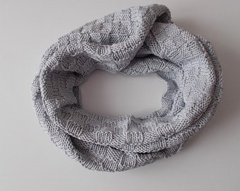 Scarf - Loop - Knit Scarf - Scarf - grey
