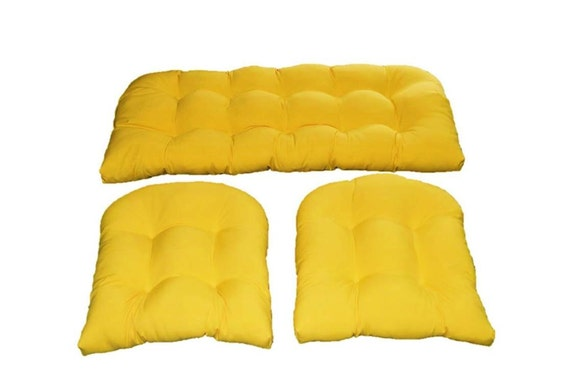 indoor outdoor wicker cushion set solid yellow cushions for wicker
