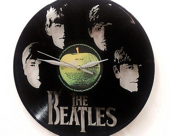 The Beatles band Wall Art -Vinyl LP Record Clock or Framed -Great Rock'n'Roll Gift- Beatles clock or the Beatles wall hangin