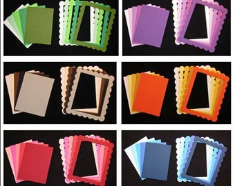 Solid color 30 lot Embellishment paper die cuts images for scrapbooking & cards