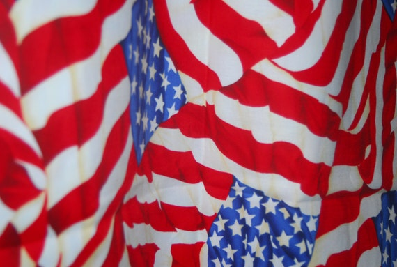 Waving Usa Flag Fabric Stars And Stripes By Timeless