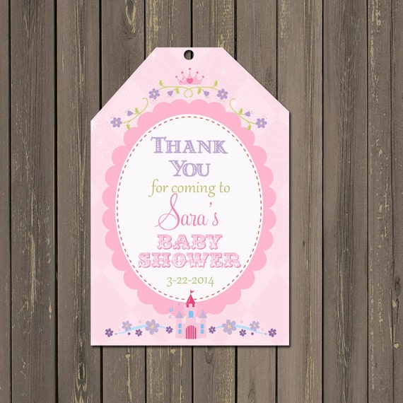 Thank You Quotes For Bridal Shower: Princess Favor Tags Princess Baby Shower Goody Bag Tags