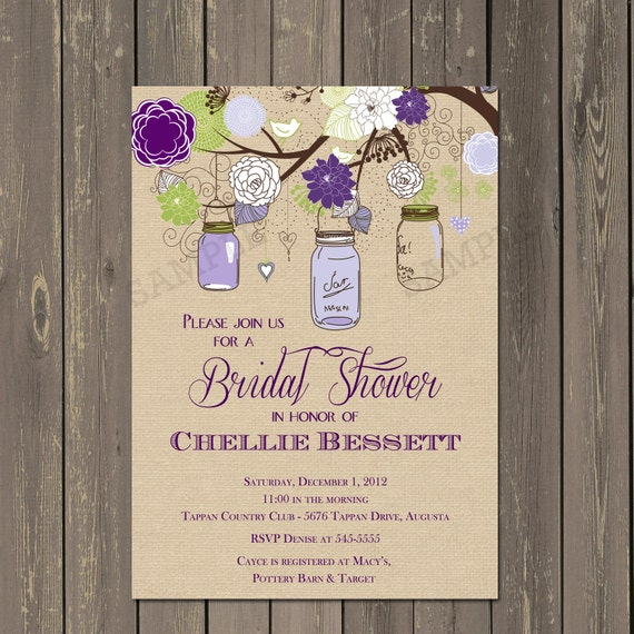 Mason jar shower invitation mason jar bridal shower invite in il570xn filmwisefo