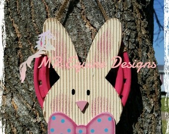 Easter, Bunny, Rabbit, Pink Horseshoe Wall Decor