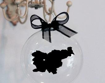 Slovenia Christmas Ornament, Custom, Adoption, Travel, Mission