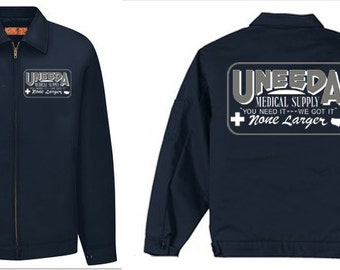 Uneeda Medical Supply work jacket Return Of The Living Dead zombie movie