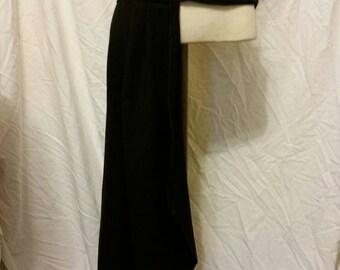 Custom Made Black Side Bustle Skirt Accessory