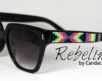 Beaded Sunglasses Feminine Neons