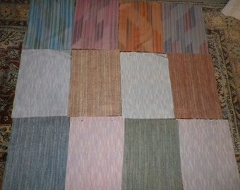 Bundle of Vintage Fabric Sample Pieces from Moygashel for Patchwork & Craft (4M)