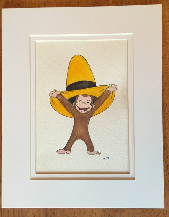 Curious george water color painting for Curious george mural