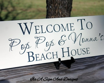 Personalized Grandparent, Beach decor, Beach signs, Grandparents Beach House, Beach House Sign, Beach House Gift, Grandparent Gifts, Beach