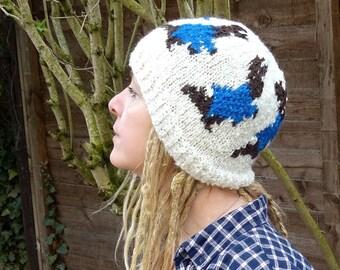Peter Rabbit Beatrix Potter pattern knit hat