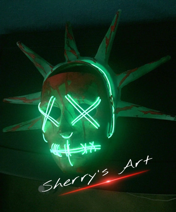Election Year: Purge 3 Masks Lady Liberty