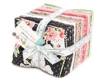 FREE SHIP Olive's Flower Market Fat Quarter Fabric Bundle by Vanessa Goertzen for Moda Fabrics