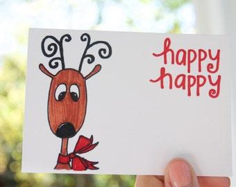 Reindeer - Christmas gift tags