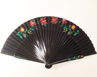 "Hand fan ""Hungarian flowers"""