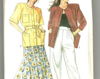 6245 New Look Sewing Pattern Jacket Skirt Pants UNCUT Size 8 10 12 14 16 18
