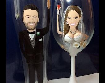 Boob Wine Bridesmaid Glasse