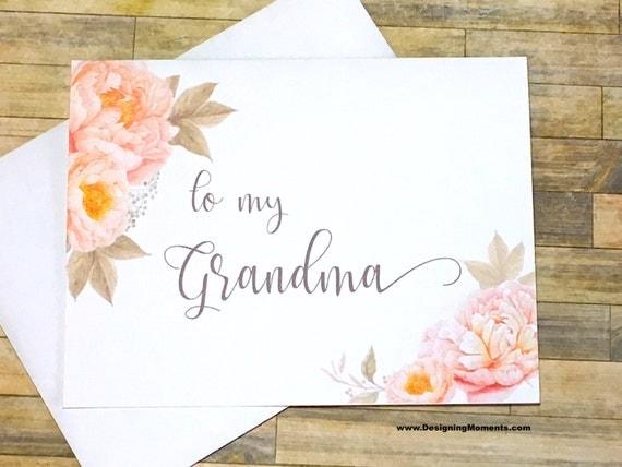 Grandmother Wedding Gift: To My Grandma Wedding Card Wedding Day Card Bridal Party