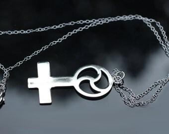 Domme Necklace, Sterling silver,Domina,Mistress,Triskele, Triskel, Triskelion Pendant, Necklace VENUS DOMINA