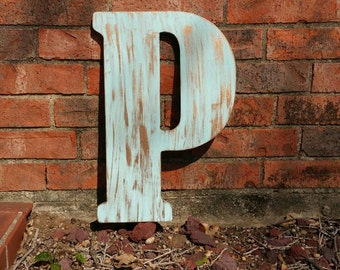Distressed Letter, ANY letter ANY Color, Rustic Letter , Wall Decor, Wood Letter , Photo Prop, Distressed Letters, Family Initial