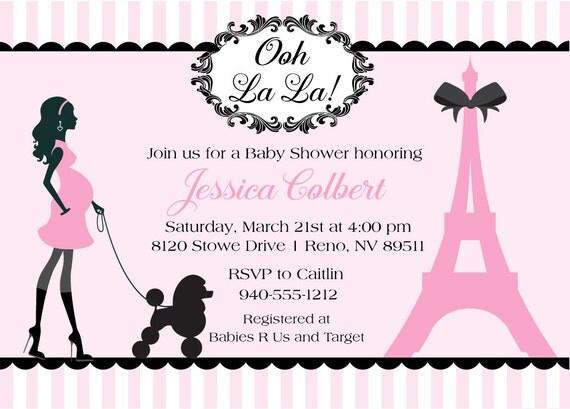 Paris baby shower invitations diabetesmangfo items similar to paris baby shower invitations french baby baby shower filmwisefo