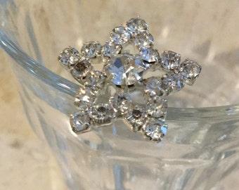 Sparkly hair pins rhinestone star shaped hair pins