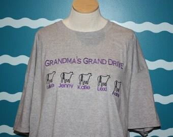 grandma's tshirt - grandma shirt - livestock grandma shirt - grandma's finial drive - grandma show shirt - grandma gift - grandma cow tshirt