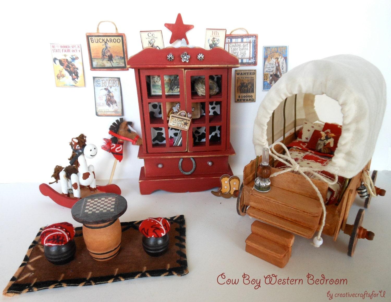 Dollhouse Western Cowboy Furniture Set Child s Bedroom