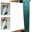 Perching Table - Quilted Maple & Cherry / Turquoise (Large Size)