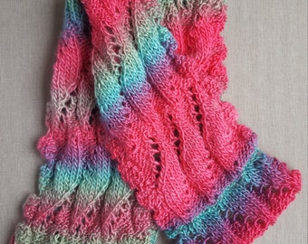 Scarf - Infinity Scarf - Lace Infinity Scarf - Knit Scarf