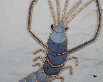 ONE Antique Applique Lobster/Crawfish