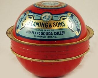 Vintage antique Dutch Baby Edam Cheese tin