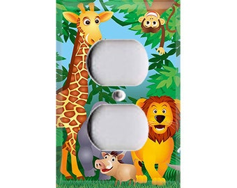 Jungle Animals Outlet Cover