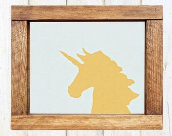 Color Block Unicorn Silhouette Print -- INSTANT DOWNLOAD