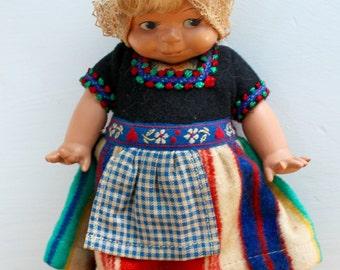 Vintage Schildkrot Kewpie Doll/ Dovina of Rotterdam, Holland Doll