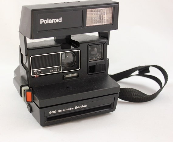 vintage polaroid 600 business edition instant film camera. Black Bedroom Furniture Sets. Home Design Ideas