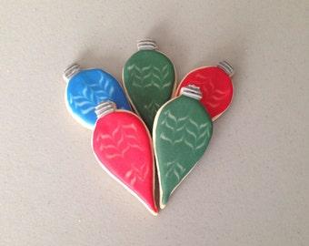 Teardrop Ornament Sugar Cookies