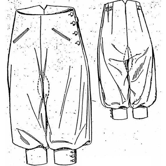 1920s Style Women's Pants, Trousers, Knickers, Tuxedo 1923  Knickerbockers Sewing Pattern by Past Patterns $14.50 AT vintagedancer.com