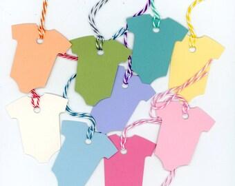 12 Baby onesie gift tags - Dozen